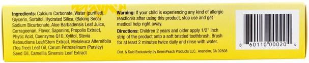 洗澡,美容,牙膏,兒童和嬰兒牙膏 - GreenPeach, Kids Strawberry Magic Toothpaste, 2 oz (57 g)
