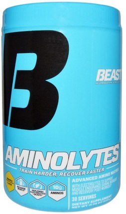 Beast Sports Nutrition, Aminolytes, Advanced Amino Matrix, Pineapple Flavor, 15.08 oz (428 g) 運動,運動,肌肉