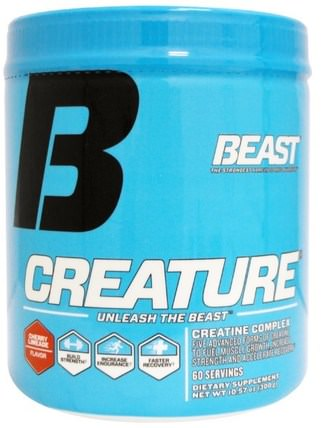 Creature Powder, Cherry Limeade, 10.57 oz (300 g) by Beast Sports Nutrition, 運動,肌酸粉,運動 HK 香港