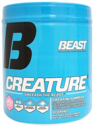 Creature Powder, Pink Lemonade, 10.58 oz (300 g) by Beast Sports Nutrition, 運動,肌酸粉,運動 HK 香港