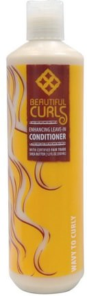 Shea Butter Enhancing Leave-In Conditioner, Wavy to Curly, 12 fl oz (350 ml) by Beautiful Curls, 洗澡,美容,頭髮,頭皮,洗髮水,護髮素,護髮素 HK 香港