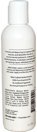 美容,面部護理,洗面奶 - Frownies, pH-Balancing Complexion Wash, 4 oz (118 ml)