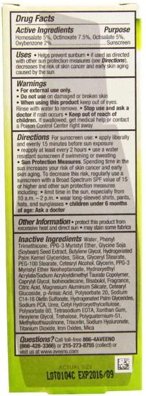 美容,面部護理,spf面部護理 - Aveeno, Active Naturals, Positively Radiant CC Cream, SPF 30, Medium, 2.5 fl oz (75 ml)