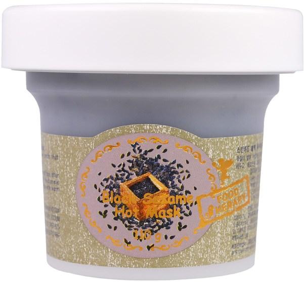 美容,面膜 - Skinfood, Black Sesame Hot Mask, 110 g