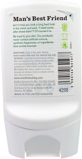 美容,男士護膚,剃須 - Bulldog Skincare For Men, After Shave Balm, Original, 3.3 fl oz (100 ml)