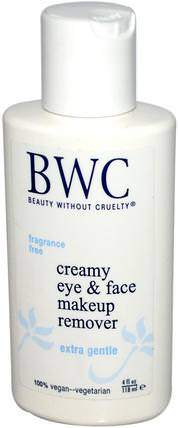 Creamy Eye & Face Makeup Remover, 4 fl oz (118 ml) by Beauty Without Cruelty, 洗澡,美容,化妝 HK 香港