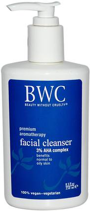 Facial Cleanser, 3% AHA Complex, 8.5 fl oz (250 ml) by Beauty Without Cruelty, 美容,面部護理,皮膚類型正常至乾性皮膚類型組合至油性皮膚 HK 香港
