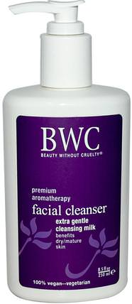 Facial Cleanser, Extra Gentle Cleansing Milk, 8.5 fl oz (250 ml) by Beauty Without Cruelty, 美容,面部護理 HK 香港