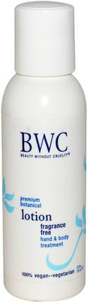 Hand & Body Treatment Lotion, Fragrance Free, 2 fl oz (59 ml) by Beauty Without Cruelty, 洗澡,美容,潤膚露 HK 香港