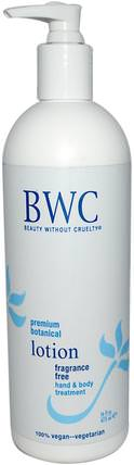 Fragrance Free Lotion, 16 fl oz (473 ml) by Beauty Without Cruelty, 洗澡,美容,潤膚露 HK 香港