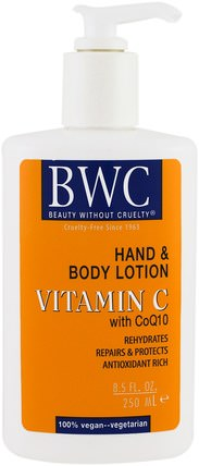 Vitamin C, With CoQ10, Hand and Body Lotion, 8.5 fl oz (250 ml) by Beauty Without Cruelty, 維生素C HK 香港