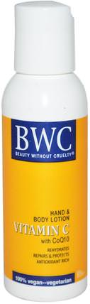 Vitamin C, With CoQ10, Hand & Body Lotion, 2 fl oz (59 ml) by Beauty Without Cruelty, 維生素C HK 香港