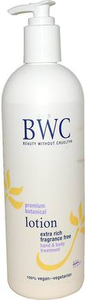 Premium Botanical Lotion, Extra Rich, Fragrance Free, 16 fl oz (473 ml) by Beauty Without Cruelty, 洗澡,美容,潤膚露 HK 香港