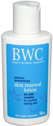 Skin Renewal Lotion, 4 fl oz (118 ml) by Beauty Without Cruelty, 美容,面部護理,面霜,乳液 HK 香港