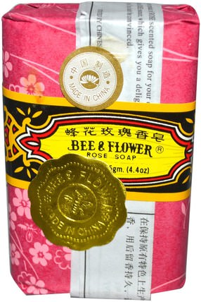Bar Soap, Rose, 4.4 oz (125 g) by Bee & Flower, 洗澡,美容,肥皂 HK 香港