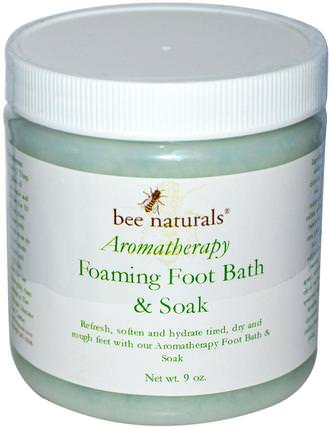 Aromatherapy Foaming Foot Bath & Soak, 9 oz by Bee Naturals, 沐浴,美容,足部護理,香薰精油,香薰浴 HK 香港