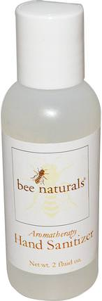 Bee Naturals, Aromatherapy Hand Sanitizer, 2 fl oz 洗澡,美容,洗手液,原蜜蜂天然