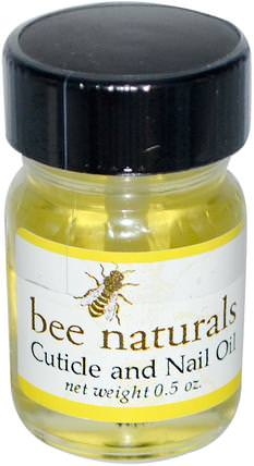 Cuticle and Nail Oil, 0.5 oz by Bee Naturals, 沐浴,美容,指甲油,原蜜蜂天然 HK 香港