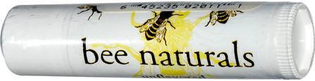 Bee Naturals, Lip Balm, Unflavored, 0.15 oz 洗澡,美容,唇部護理,原蜜蜂天然,潤唇膏