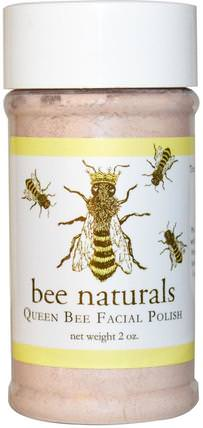 Queen Bee Facial Polish, 2 oz by Bee Naturals, 陷入困境的皮膚,蜂王收集 HK 香港
