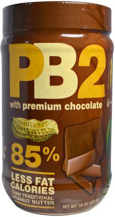 PB2, with Premium Chocolate, 16 oz (453.6 g) by Bell Plantation, 食品,花生醬,鐘種植園巧克力pb2 HK 香港