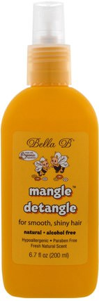 Mangle Detangle, Fresh Natural Scent, 6.7 oz (200 ml) by Bella B, 洗澡,美容,護髮素,兒童detangler,頭髮,頭皮,洗髮水,護髮素 HK 香港