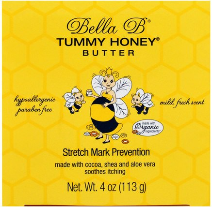 Tummy Honey Butter, Stretch Mark Prevention, 4 oz (113 g) by Bella B, 健康,懷孕,皮膚,妊娠紋疤痕 HK 香港