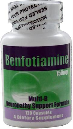 150 mg, 120 Capsules by Benfotiamine Multi-B Neuropathy Support Formula, 補充劑,benfotiamine HK 香港