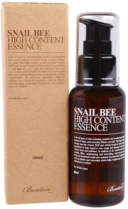 Snail Bee High Content Essence, 60 ml by Benton, 美容,面部護理 HK 香港