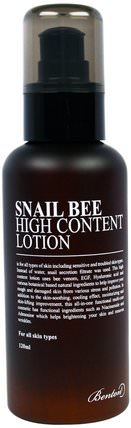 Snail Bee, High Content Lotion, 120 ml by Benton, 美容,面部護理,面霜,乳液,浴 HK 香港
