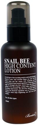 Snail Bee, High Content Lotion, 120 ml by Benton, 美容,面部護理 HK 香港