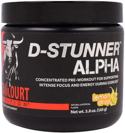 D-Stunner Alpha, Lemon Drop, 5.8 oz (165 g) by Betancourt, 運動,鍛煉,肌肉 HK 香港