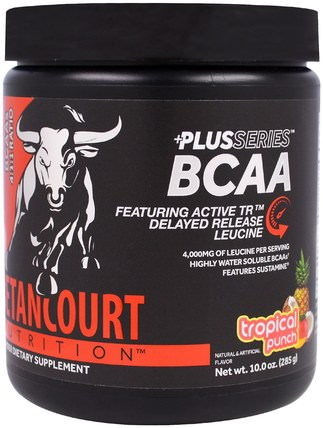 Plus Series BCAA, Tropical Punch, 10.0 oz (285 g) by Betancourt, 補充劑,氨基酸,bcaa(支鏈氨基酸),運動,肌肉 HK 香港