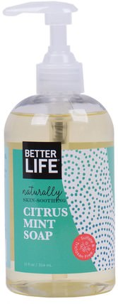 Citrus Mint Soap, 12 fl oz (354 ml) by Better Life, 洗澡,美容,肥皂 HK 香港