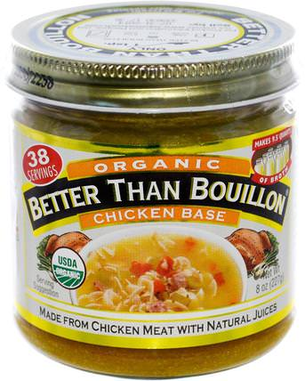 Organic Chicken Base, 8 oz (227 g) by Better Than Bouillon, 比肉湯有機,食物,意大利面和湯更好 HK 香港