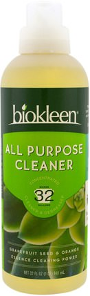 All Purpose Cleaner, Concentrated, Grapefruit Seed & Orange, 32 fl oz (946 ml) by Bio Kleen, 家庭,家庭清潔工 HK 香港