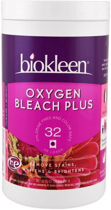Oxygen Bleach Plus, 32 oz (907 g) by Bio Kleen, 回家,洗衣漂白 HK 香港