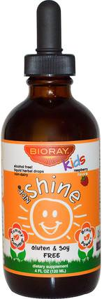 NDF Shine, Probiotic Lysate & Toxin Removal, Kids, Berry Flavor, 4 fl oz (120 ml) by Bioray Kids, 補充劑,益生菌,兒童益生菌,穩定的益生菌 HK 香港