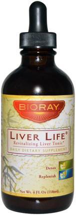 Revitalizing Liver Tonic, 4 fl oz (118 ml) by Bioray Liver Life, 補品,肝製品,藥用蘑菇 HK 香港