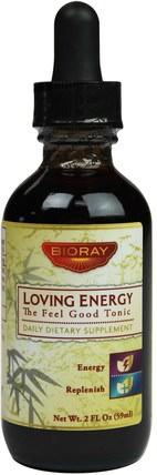 (The-Feel-Good-Tonic), 2 fl oz (59 ml) by Bioray Loving Energy, 補充劑,腎上腺,感冒和病毒,免疫系統 HK 香港