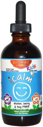 Nourish the Liver & Remove Toxins, Kids, Vanilla Flavor, 4 fl oz (120 ml) by Bioray NDF Calm, 兒童健康,補充兒童,健康,心情 HK 香港