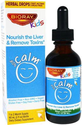 Nourish the Liver & Remove Toxins, Kids, Vanilla Flavor, 2 fl oz (60 ml) by Bioray NDF Calm, 兒童健康,兒童草藥 HK 香港