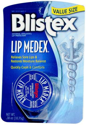 Lip Medex, External Analgesic Lip Protectant.38 oz (10.75 g) by Blistex, 沐浴,美容,唇部護理,blistex唇部特定 HK 香港