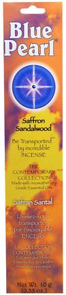 The Contemporary Collection, Saffron Sandalwood Incense, 0.35 oz (10 g) by Blue Pearl, 沐浴,美容,香薰精油,香,補品,藏紅花 HK 香港