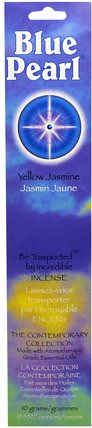The Contemporary Collection, Yellow Jasmine Incense, 0.35 oz (10 g) by Blue Pearl, 健康 HK 香港