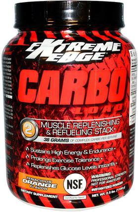 Extreme Edge, Carbo Load, Muscle Replenish & Refuel, Tenacious Orange, 2.5 lbs (1144 g) by Bluebonnet Nutrition, 運動,運動,肌肉 HK 香港