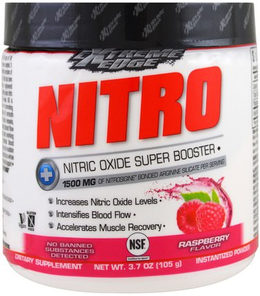 Extreme Edge, Nitro, Raspberry Flavor, 3.7 oz (105 g) by Bluebonnet Nutrition, 運動,鍛煉 HK 香港