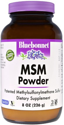 MSM Powder, 8 oz (226 g) by Bluebonnet Nutrition, 補品,礦物質,關節炎 HK 香港