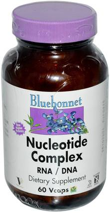 Nucleotide Complex, RNA / DNA, 60 Vcaps by Bluebonnet Nutrition, 補品,rna,dna HK 香港