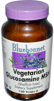 Bluebonnet Nutrition, Vegetarian Glucosamine MSM, 120 Vcaps 維生素